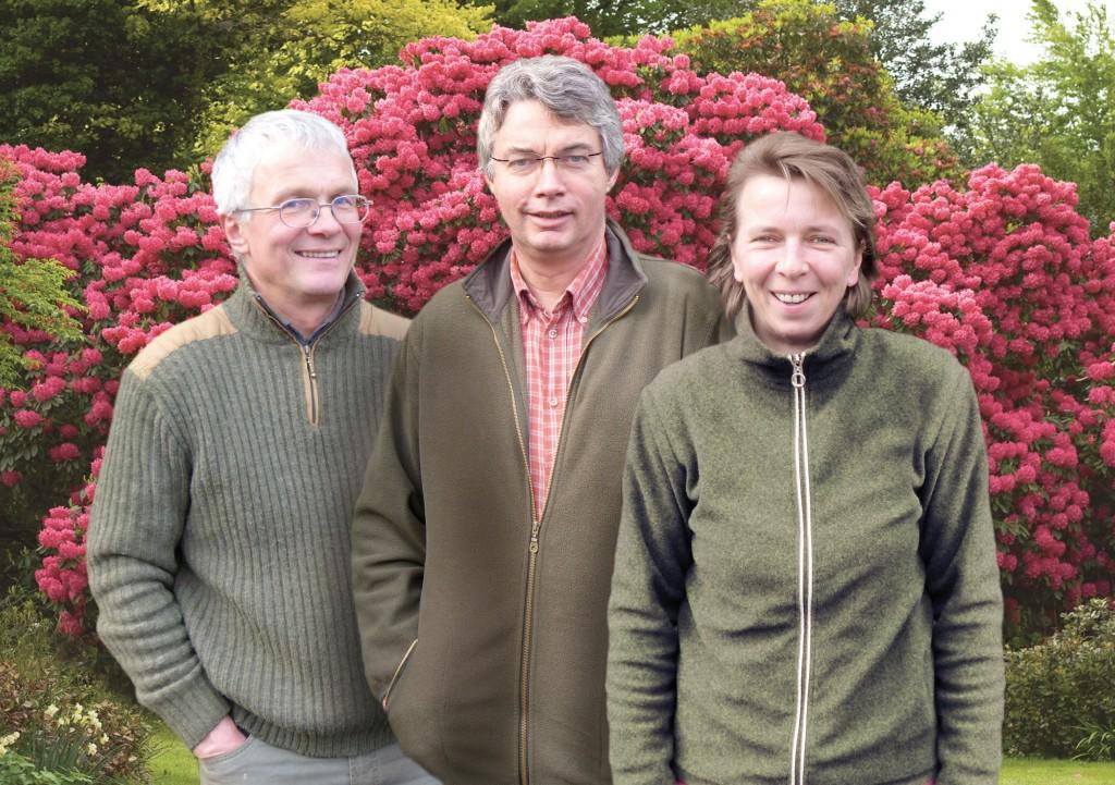 Gerd, Dieter und Elli. Team Greive Baumschulen