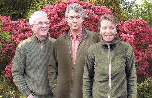 Gerd, Dieter und Elli-Team Greive Baumschulen